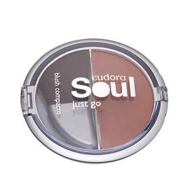 Soul Just Go Blush Compacto  Marrom Marrom_