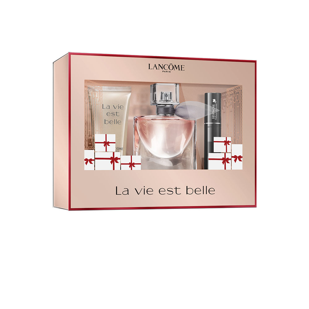 coffret lanc me la vie est belle eau de parfum e body lotion feminino the beauty box. Black Bedroom Furniture Sets. Home Design Ideas