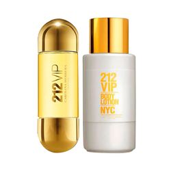Kit Perfume 212 Vip 30Ml + Body Lotion 200Ml_