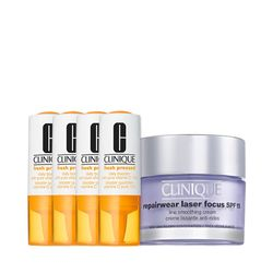 Kit-Facial-Clinique-Fresh-Pressed-Vitamina-C---Hidratante-Repairwear-Laser-Focus
