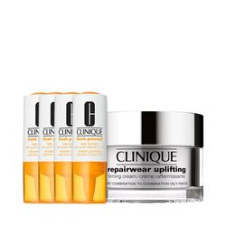 Kit-Facial-Clinique-Fresh-Pressed-Vitamina-C---Hidratante-Repairwear-Uplifting-Firming