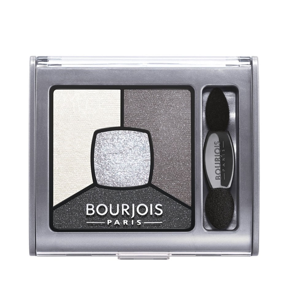Sombra Pó Bourjois Quarteto Smoky Stories 01 Grey & Night 3,2g