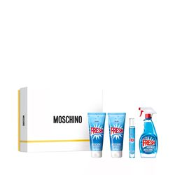 Kit-Perfume-Moschino-Fresh-Couture-Eau-de-Toilette-100ml---Gel-de-Banho-100ml---Locao-Corporal-100ml---Travel-Size-10ml