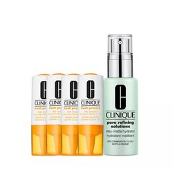 Kit-Facial-Clinique-Fresh-Pressed-Vitamina-C---Hidratante-Pore-Refining-Solutions-Stay-Matte