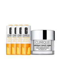 Kit-Facial-Clinique-Fresh-Pressed-Vitamina-C---Hidratante-Noturno-Smart-Night-Custom-Repair