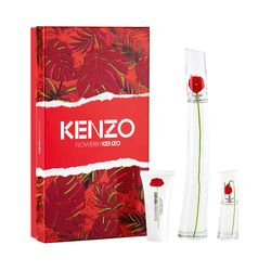 Kit-Perfume-Flower-By-Kenzo-Feminino-Eau-de-Parfum-100ml---Travel-Size-15ml---Body-Milk-50ml-Unico