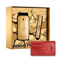 Kit-1-Million-Eau-de-Toilette-50ml---Travel-Spray-10ml---Presente-Carteira