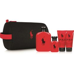 Kit Perfume Polo Red Masculino Eau de Toilette 125ml e 40ml + After Shave  50ml + Shower Gel 50ml + Nécessaire 63f2b082f0