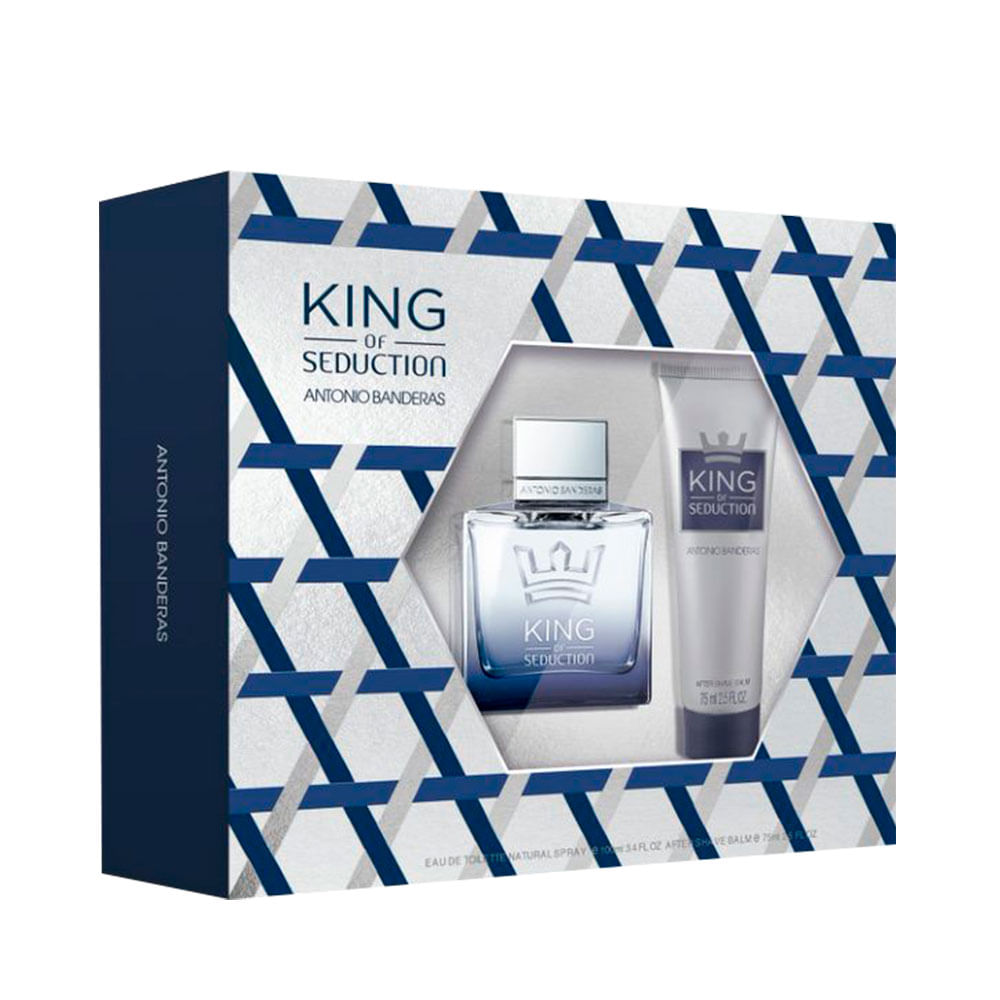 Kit Perfume King of Seduction Eau de Toilette Masulino 100ml + After Shave 75ml