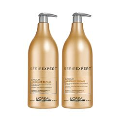 Kit-L-Oreal-Professionnel-Absolut-Repair-Lipidium---Shampoo-15L---Condicionador-15L-